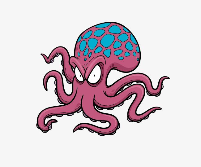 650x539 Octopus Cartoon Vector Material, Octopus, Cartoon, Vector Cartoon