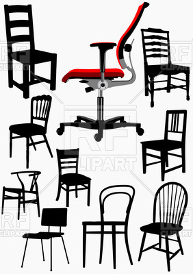 282x400 Collection Of Home And Office Wooden Chair Silhouettes Royalty