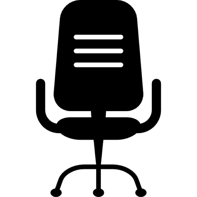 626x626 Office Chair Silhouette Icons Free Download