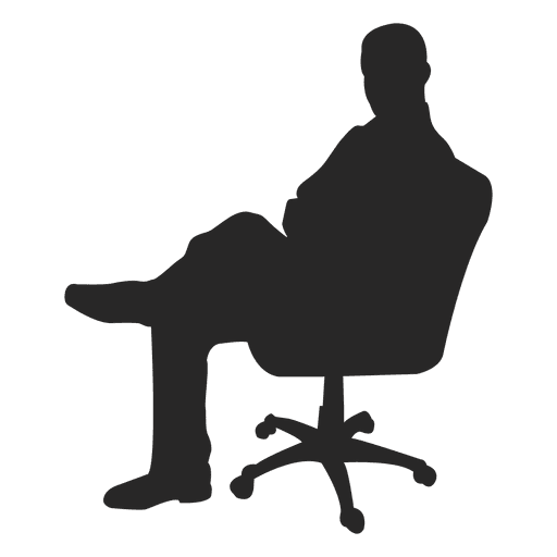 512x512 Office Chair Silhouettes Set