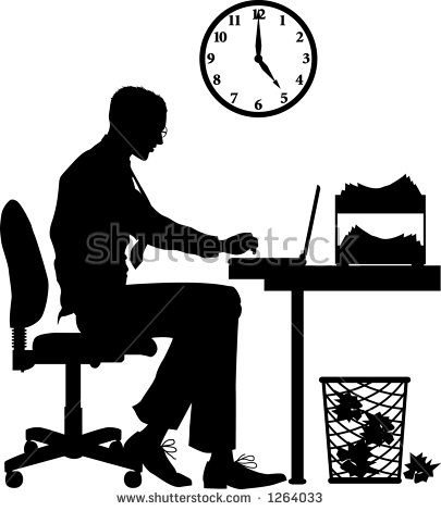 405x470 Office Clipart Silhouette