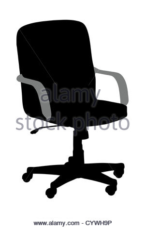 300x470 Silhouette Chair Office Style Object Design Stock Vector Art
