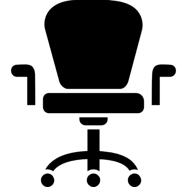 626x626 Armchair With Wheels Of Studio Furniture Icons Free Download