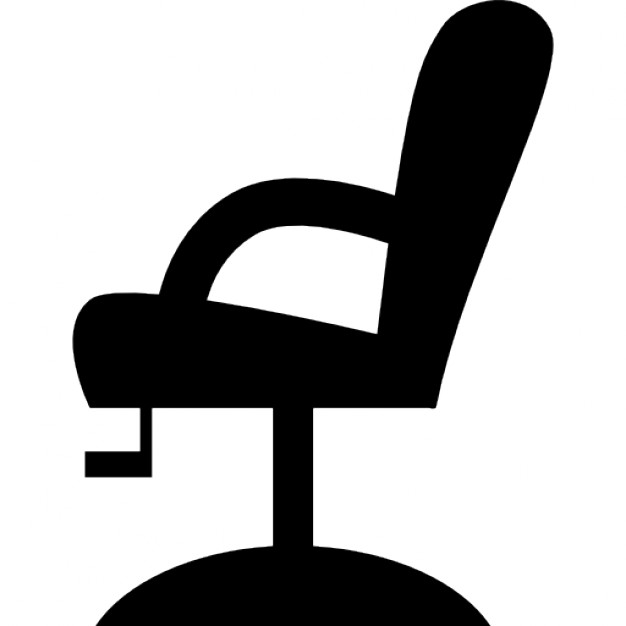 626x626 Chair Side View Silhouette Icons Free Download