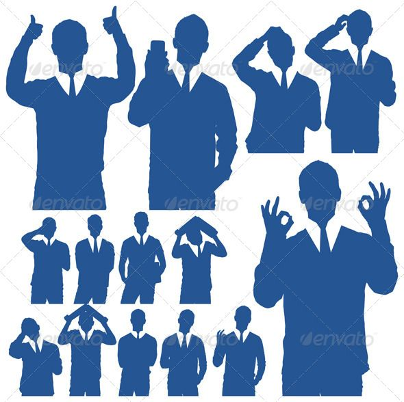 590x588 Business Man Silhouettes Silhouettes, Business And Buy Business