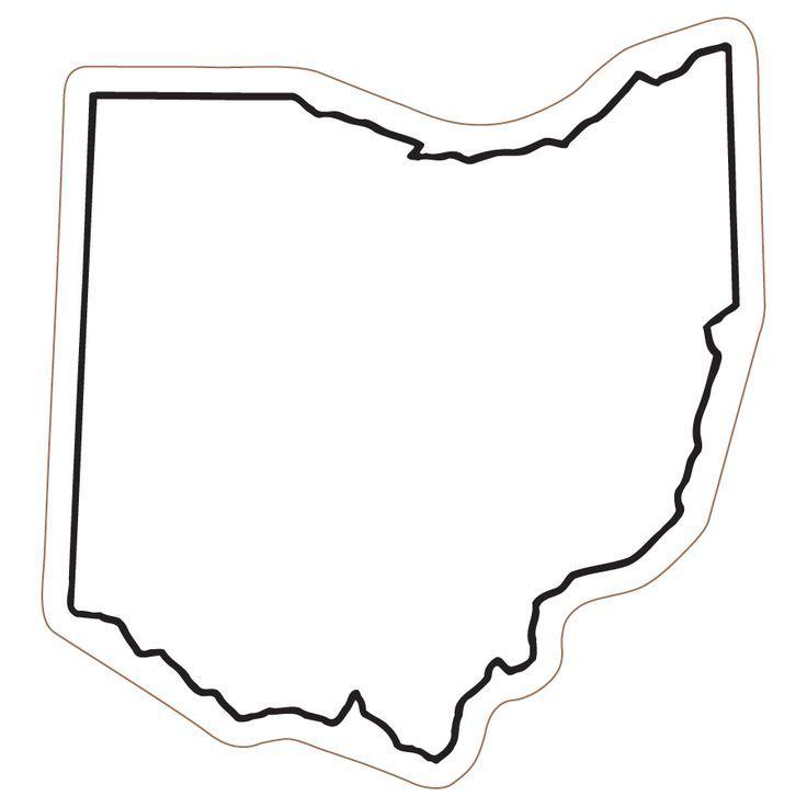 736x736 Ohio State Silhouette Vector