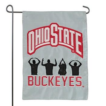 350x350 Ohio State University O H I O People Silhouette Garden Flag