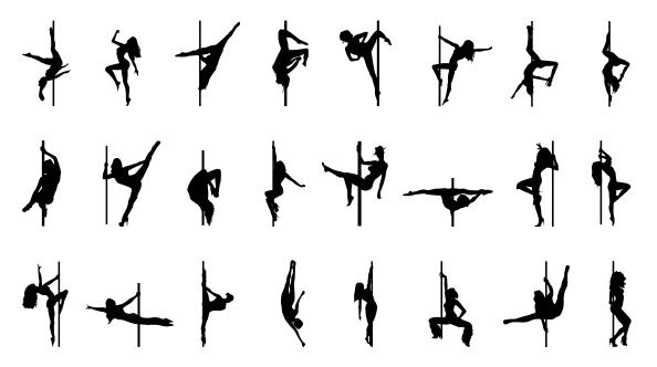 594x332 Pole Dancer Silhouettes Pole Dancers Dancer
