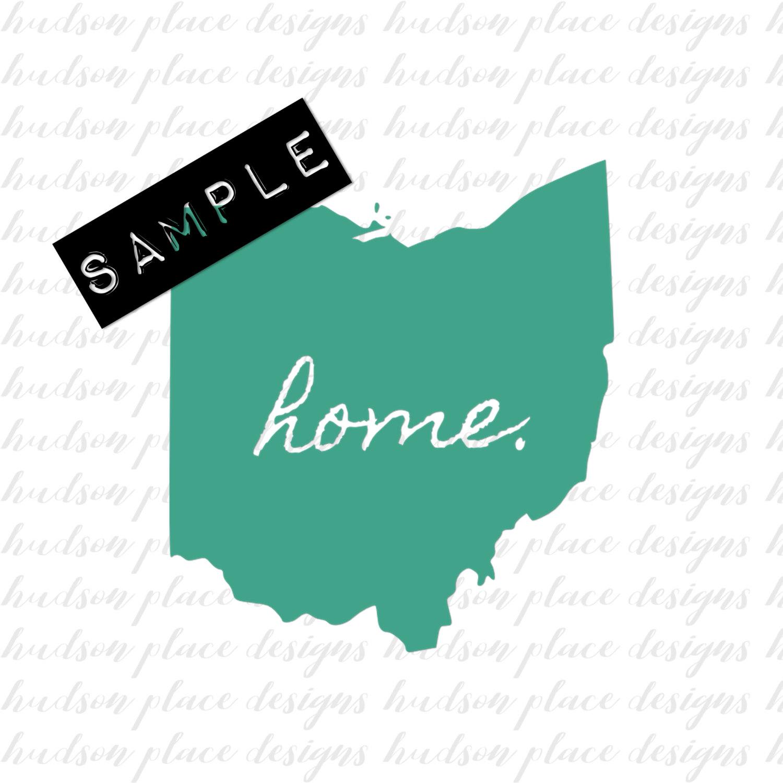 1500x1500 State Of Ohio Home Svg File Png File Pdf File Cricut Explore