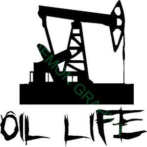 300x300 Oil Life Pump Jack Vinyl Decalsticker Oilfield Rig Handroughneck