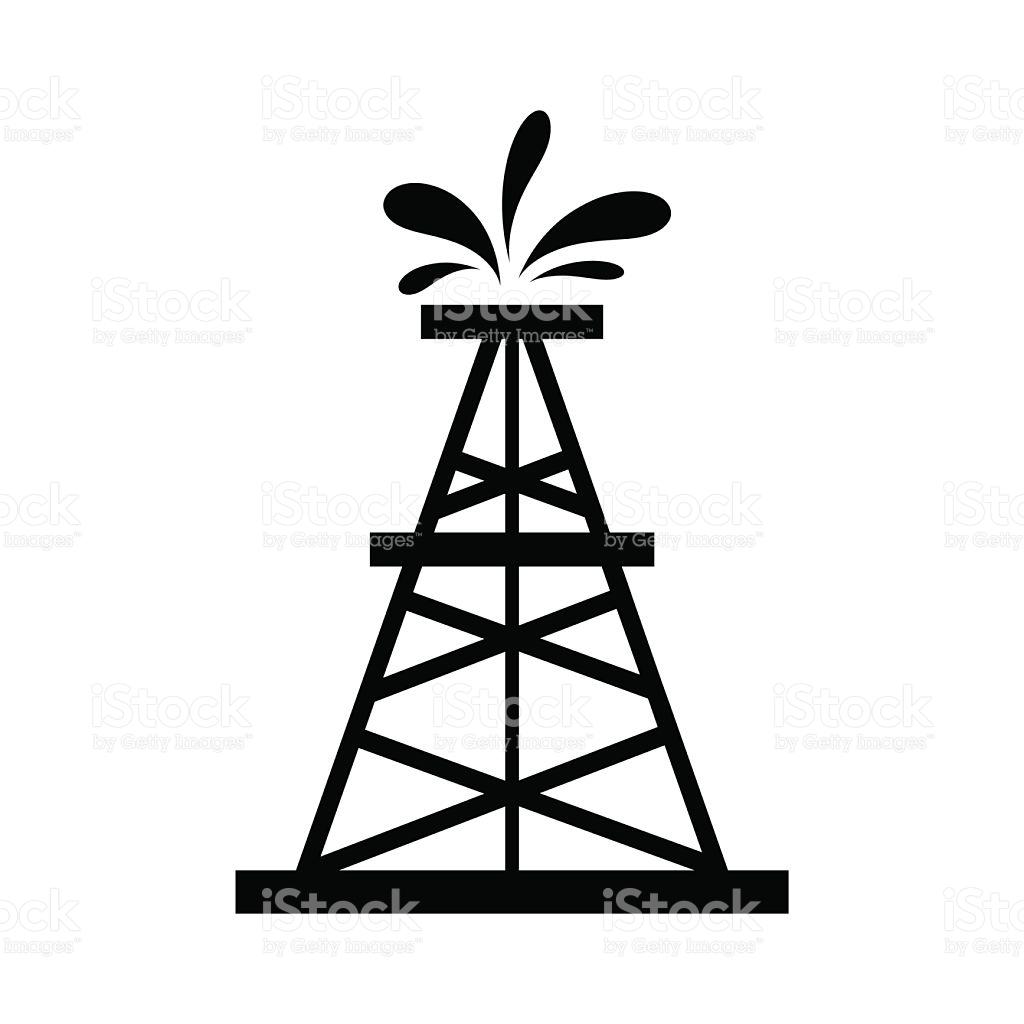 Oil Derrick Silhouette At Getdrawings Free Download
