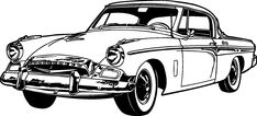 234x106 Old Classic Cars Silhouette Silhouettes Vector Car