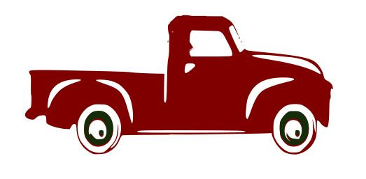 523x257 Red Truck Svg File, Quote Cut File, Silhouette File, Cricut File