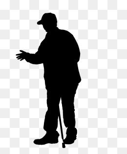 260x313 Silhouette Of The Elderly Png Images Vectors And Psd Files