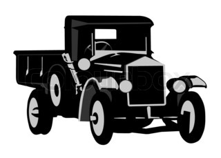320x229 Modern And Vintage Cars Silhouettes Collection Stock Photo