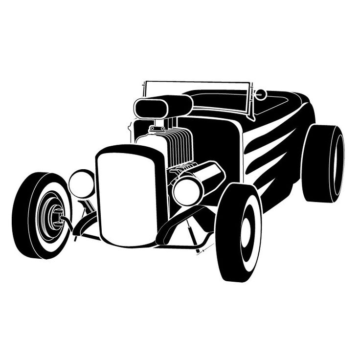 736x736 Free To Print Hot Rod Clipart