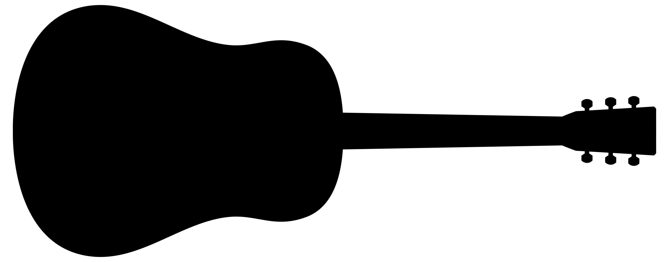 2662x1045 Old Fashioned Guitar Silhouette Clipart