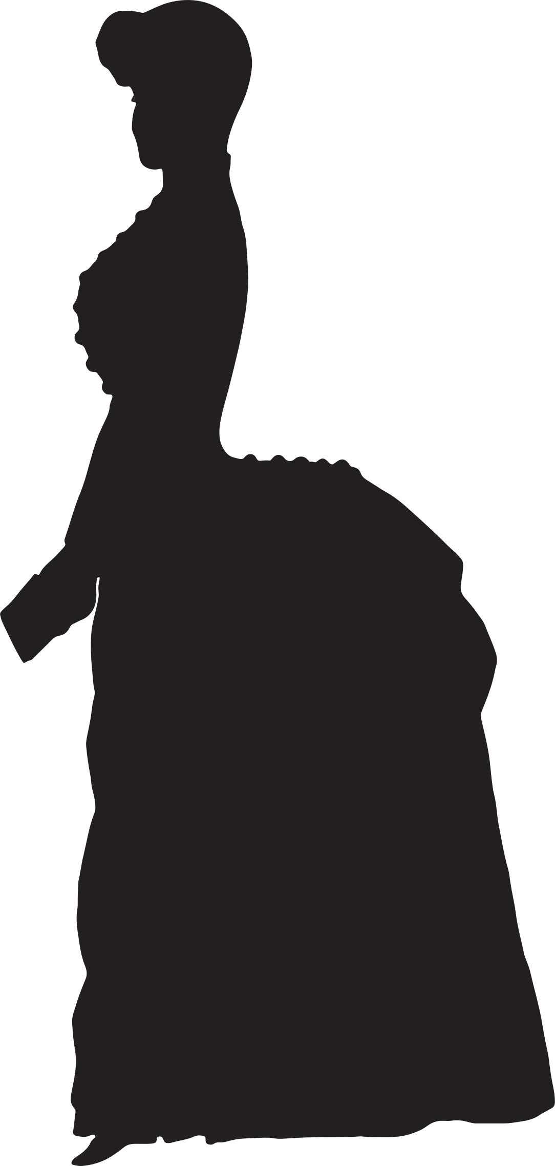 1084x2276 Old Fashioned Victorian Woman Silhouette Variation 2 Icons Png