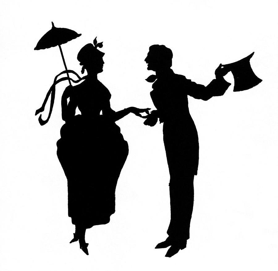 900x875 Vintage Couple Silhouette Cricut Vinly Couple