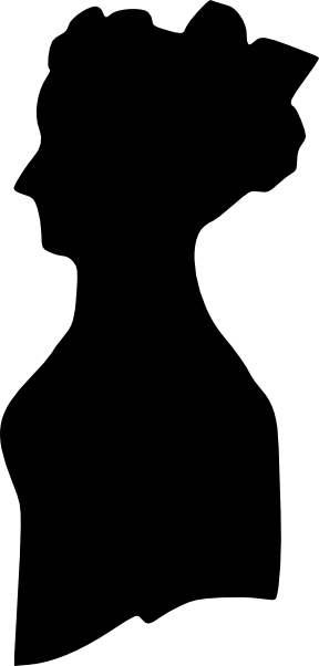 288x602 Woman Silhouette Clip Art