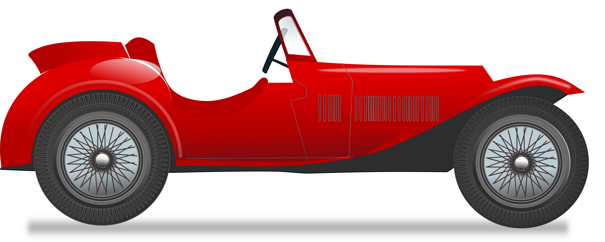 2400x960 Race Car Clipart Old Fashioned Car