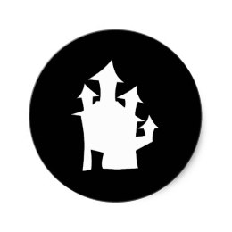 260x260 Haunted House Silhouette Stickers Zazzle