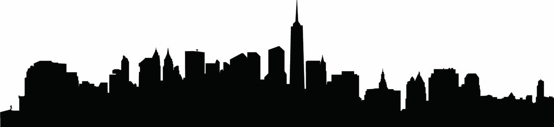 1500x345 New York Skyline Silhouette Free Download Clip Art Free Clip