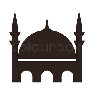 320x320 Six Black Silhouettes Of Arabian Cityscapes With Towers