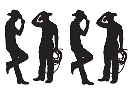 450x320 Beistle 54225 Cowboy Silhouettes, 35 Inch And 37 Inch