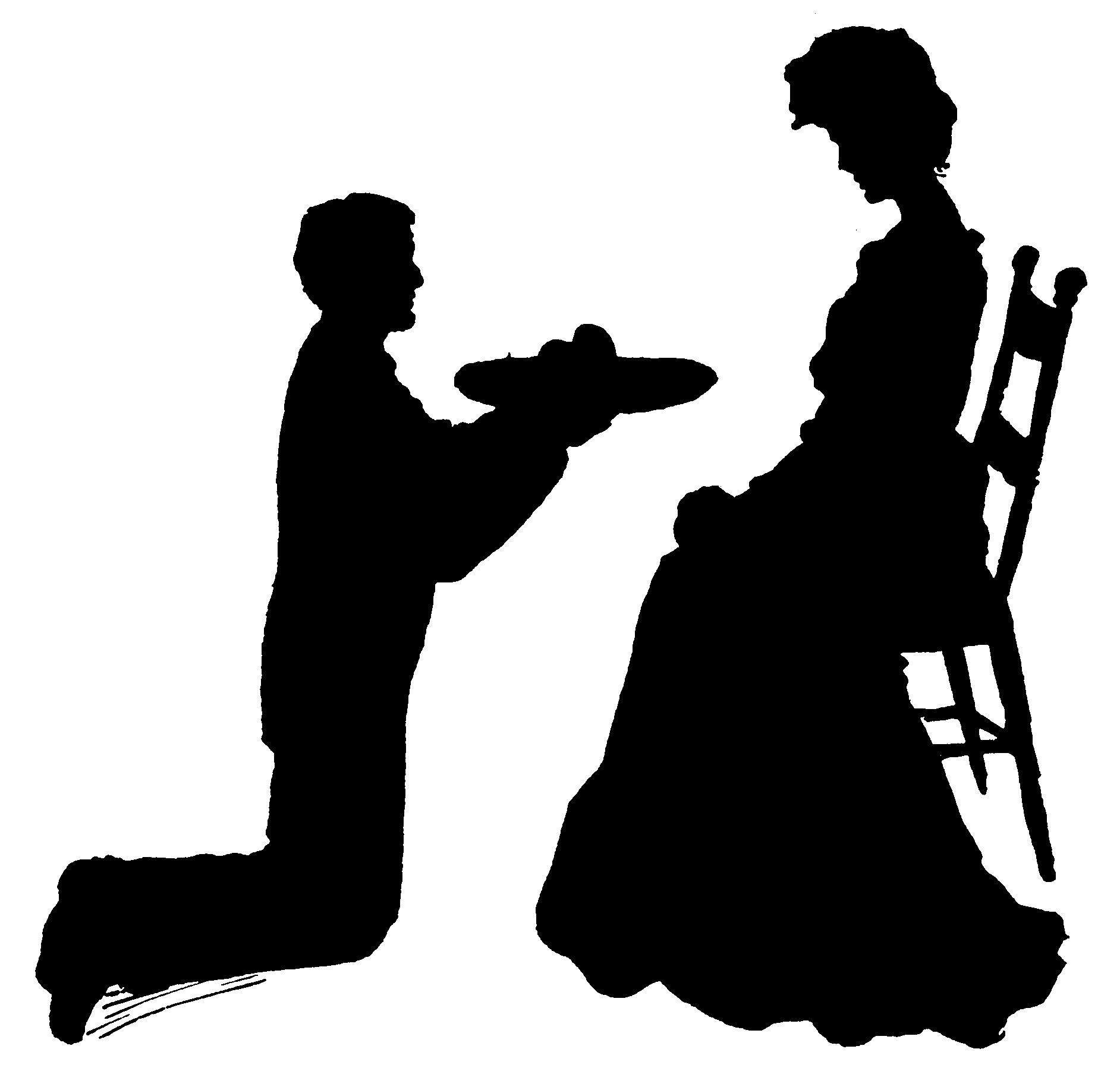 1884x1802 Old Fashion Silhouette Clipart