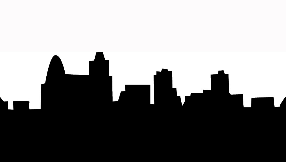 1000x567 Old Town Clipart Silhouette