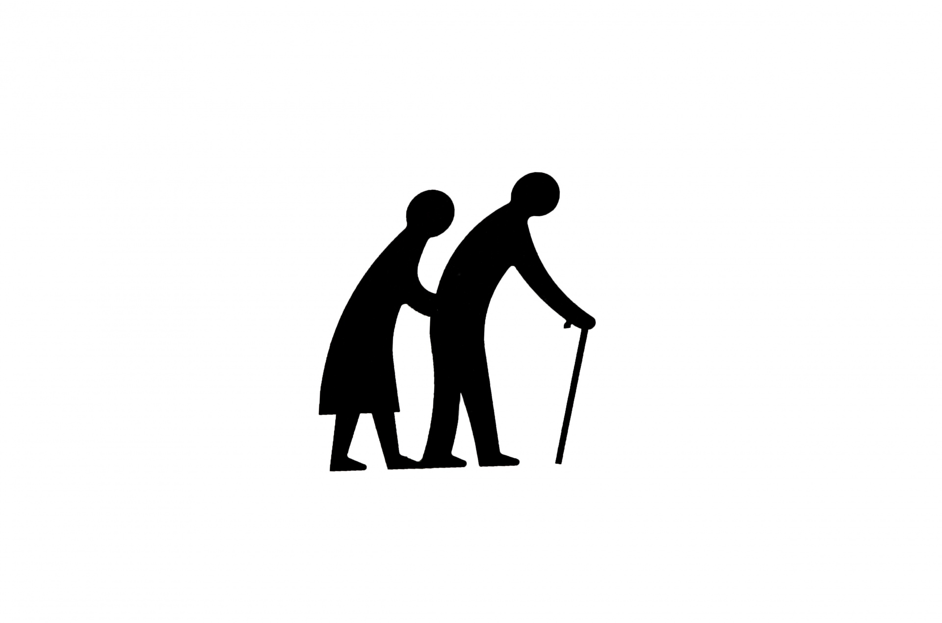 1920x1271 Silhouette Of Old People Free Stock Photo