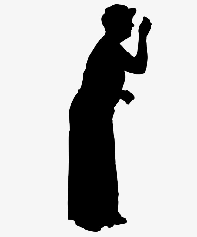 650x781 The Old Lady Knocking Silhouette, Old People, Sketch, Old Png