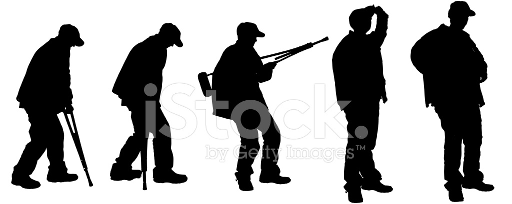 1024x409 Vector Silhouette Of Old Stock Vector