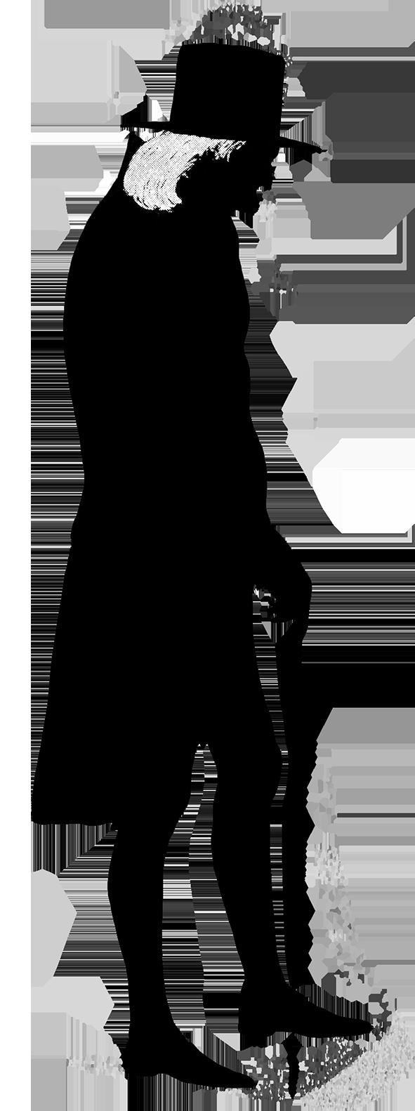 591x1582 Victorian Silhouette Clipart