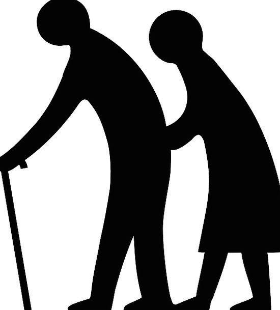 550x609 Elderly People, Retired Person, Pensioner, Silhouette, Retiree