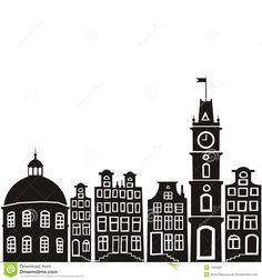 236x252 Countryside Town Silhouette