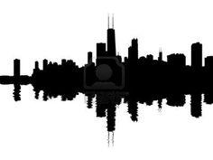 236x177 Chicago City Skyline Silhouette Background. Vector Illustration
