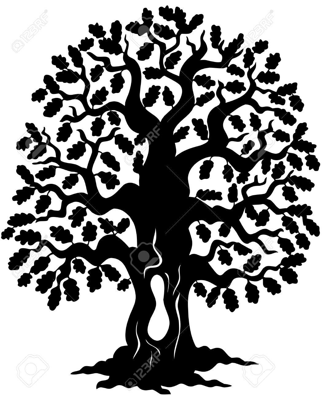 1062x1300 Oak Tree Silhouette Group