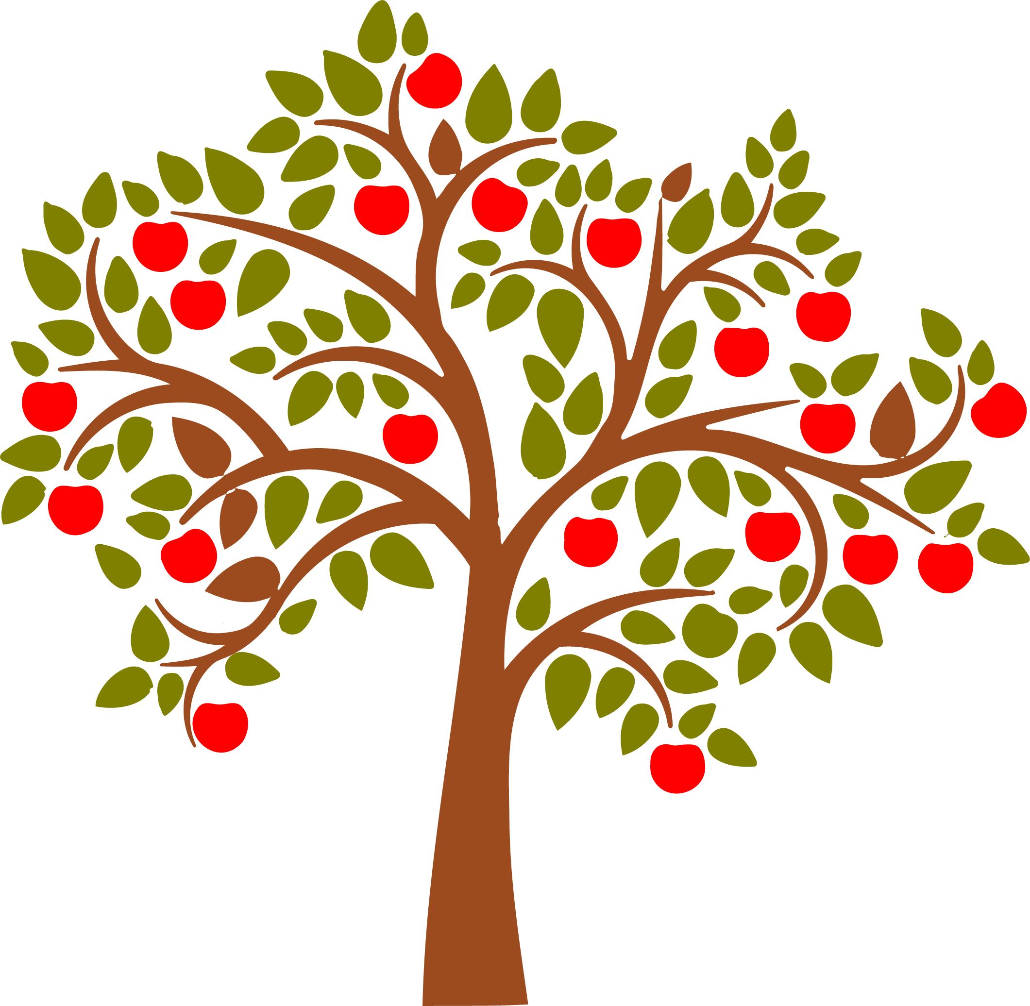2121x2072 Beautiful Clipart Apple Tree Pencil And In Color Old