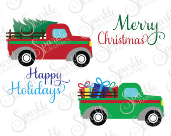 340x270 Sale! Christmas Tree Truck, Old Truck, Vintage, Antique, Svg