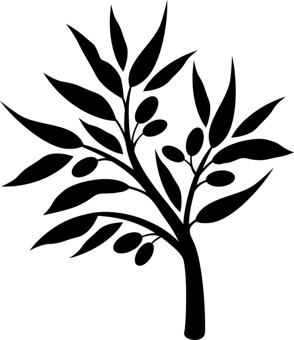 605x700 Olive Tree Silhouette Sticker We Live To Change