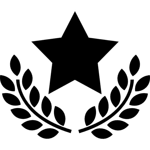626x626 Award Star With Olive Branches Icons Free Download