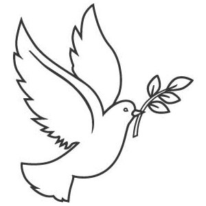 300x300 Dove Clipart Olive Leaf