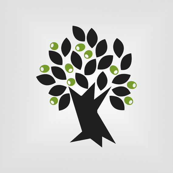 570x570 Olive Tree Svg, Tree Svg, Vector Art, Cricut, Silhouette Cameo