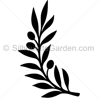 336x334 Olive Branch Silhouette Clip Art. Download Free Versions