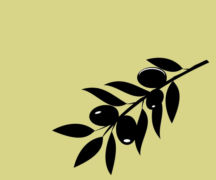 700x585 Vector Olive Branch Silhouette Wall Mural We Live