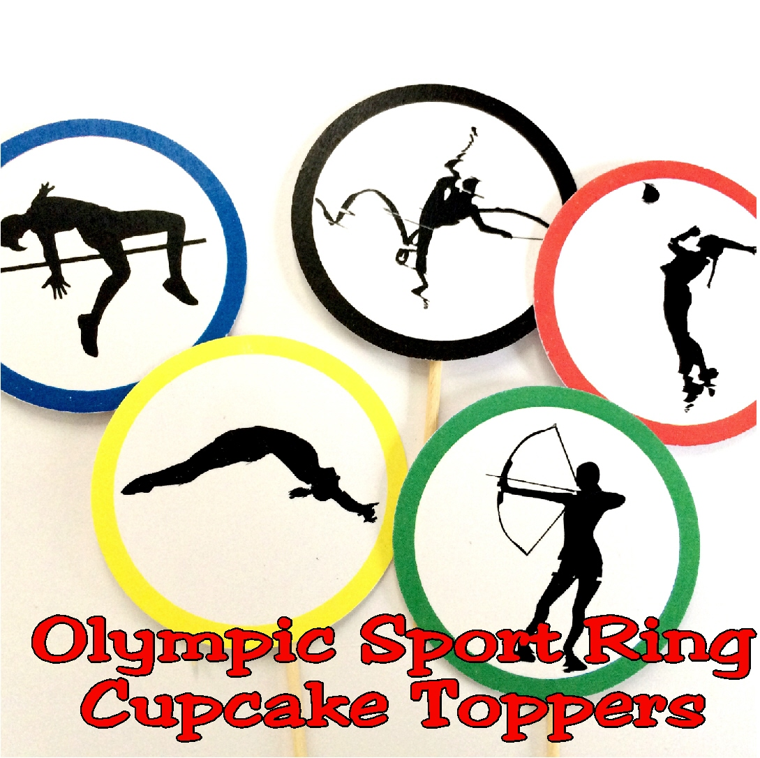 1089x1086 Olympic Sport Ring Cupcake Topper Printable Everyday Parties