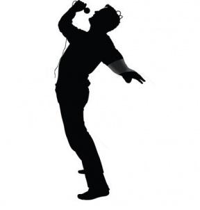 288x302 Singer Silhouette Clipart