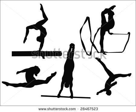 450x369 Gymnastics Clipart Silhouette Jump Clipart Panda